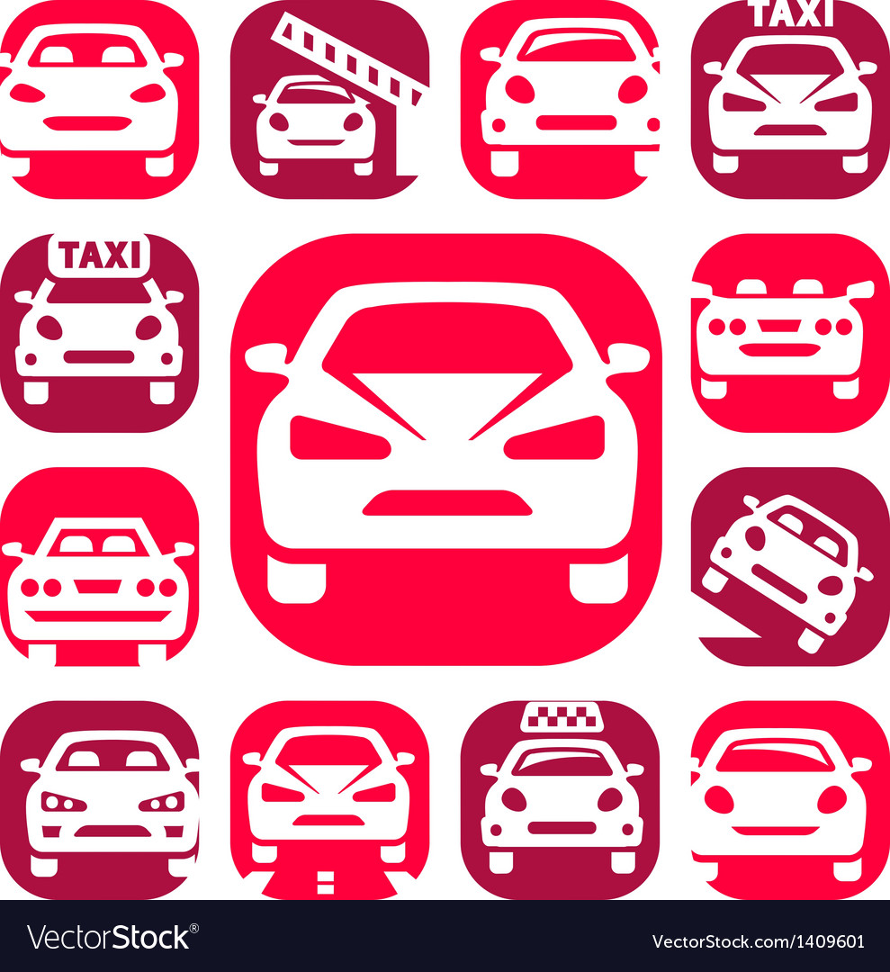 Color auto icons vector | Price: 1 Credit (USD $1)