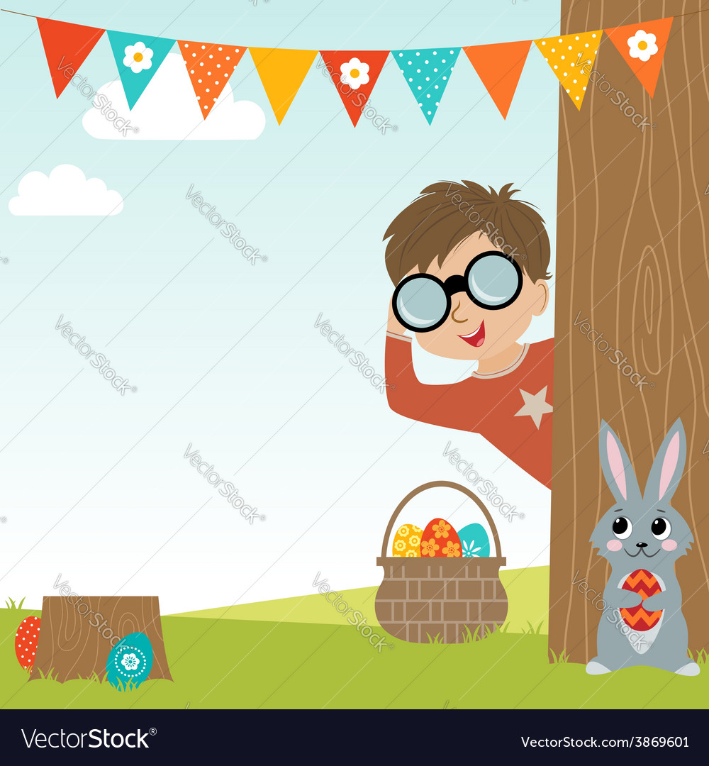 Easter egg hunt vector | Price: 1 Credit (USD $1)