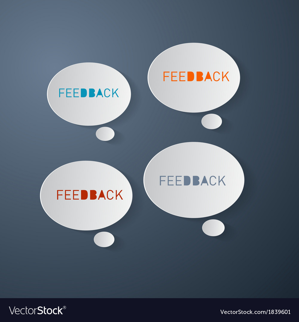 Feedback icons - paper bubbles vector | Price: 1 Credit (USD $1)