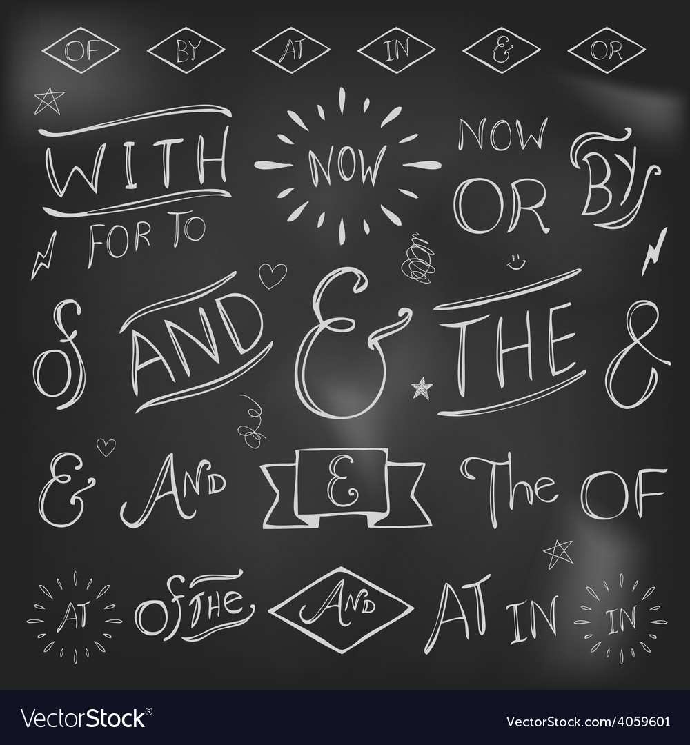 Hand-lettered ampersands and catchwords vector | Price: 1 Credit (USD $1)