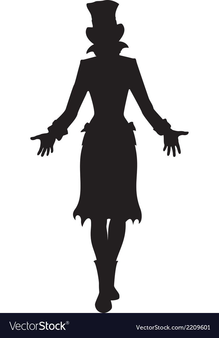 Hat woman silhouette vector | Price: 1 Credit (USD $1)