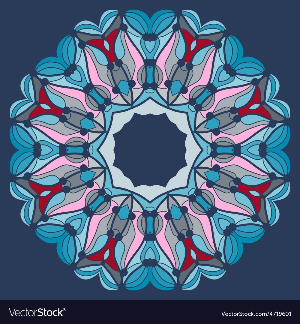 Mandala in blue fflower like kaleidoskopic tribal vector | Price: 1 Credit (USD $1)