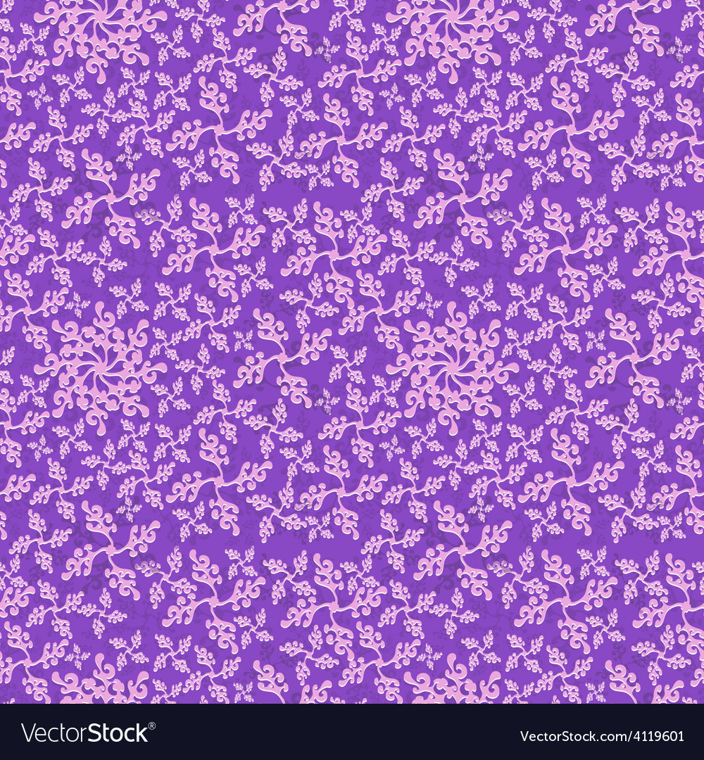 Seamless curly plant style pattern vector | Price: 1 Credit (USD $1)