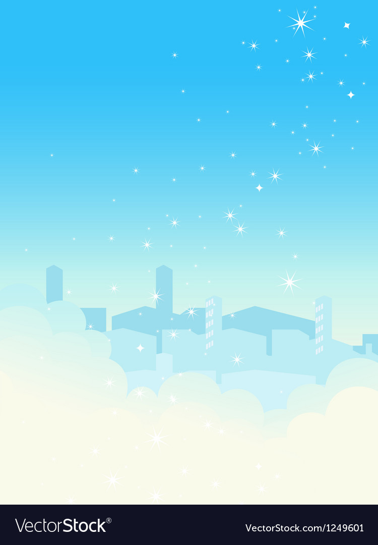 Shiny blue sky cityscape vector | Price: 1 Credit (USD $1)