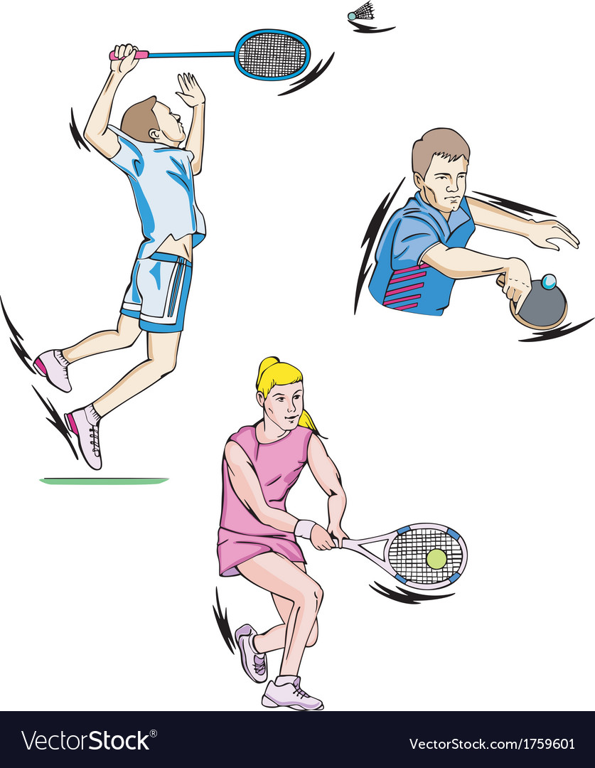 Tennis and badminton vector | Price: 1 Credit (USD $1)