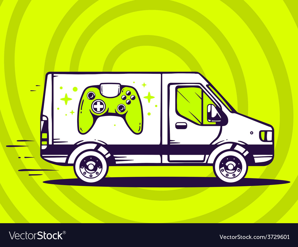 Van free and fast delivering joystick to vector | Price: 1 Credit (USD $1)