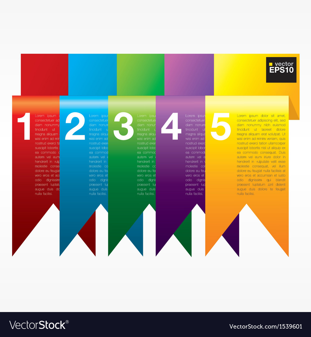 Vertical ribbon banners eps10 vector | Price: 1 Credit (USD $1)