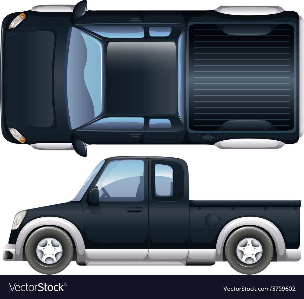 A black pickup vector | Price: 1 Credit (USD $1)