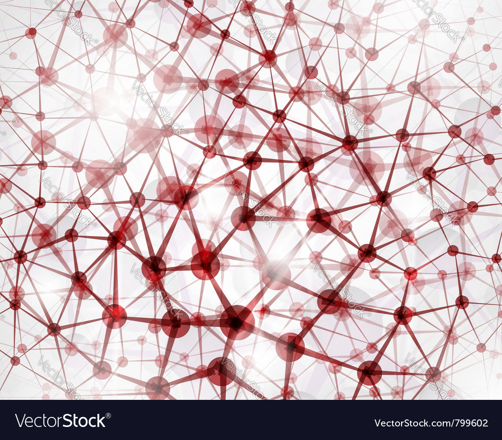 Abstract molecular structure vector | Price: 1 Credit (USD $1)