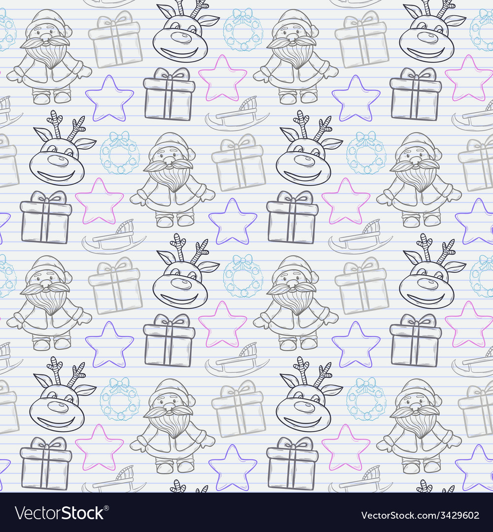 Abstract seamless christmas pattern vector | Price: 1 Credit (USD $1)