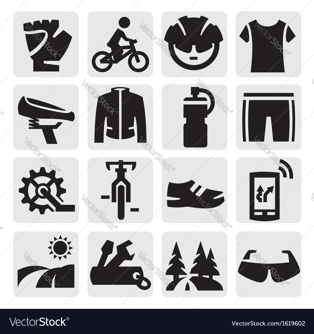 Biking icon vector | Price: 1 Credit (USD $1)