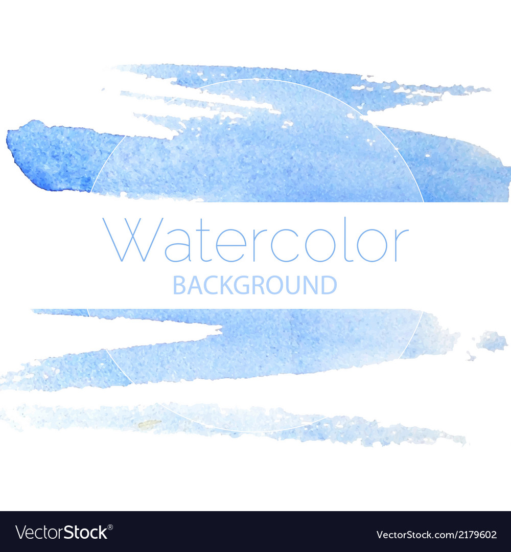 Blue watercolor background blue text vector | Price: 1 Credit (USD $1)