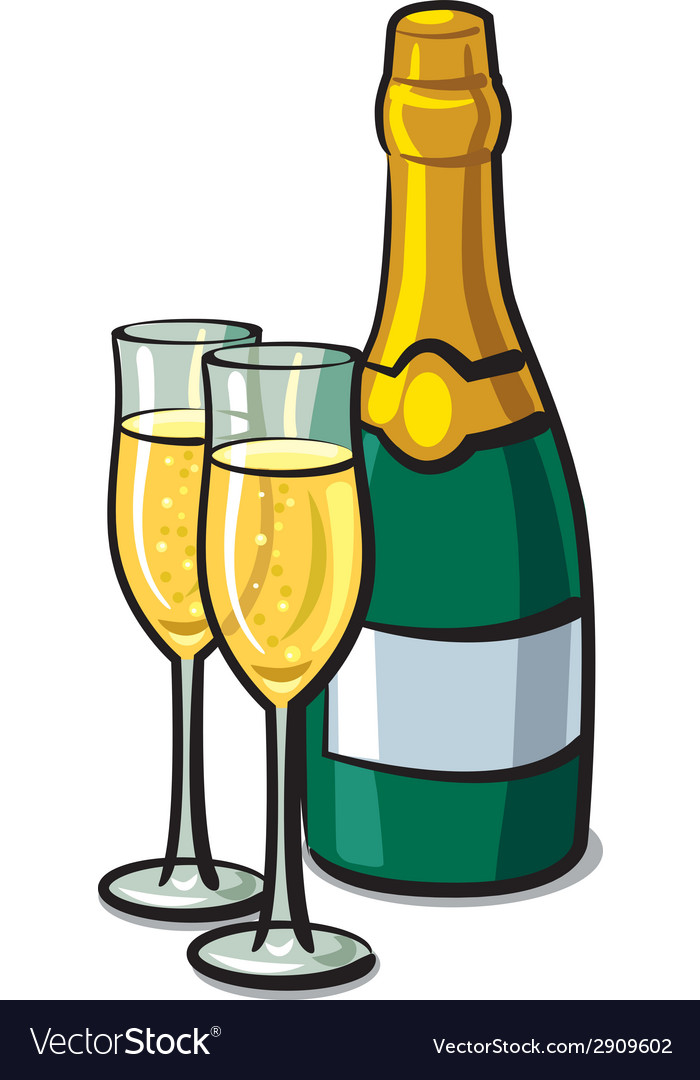 Champagne vector | Price: 1 Credit (USD $1)