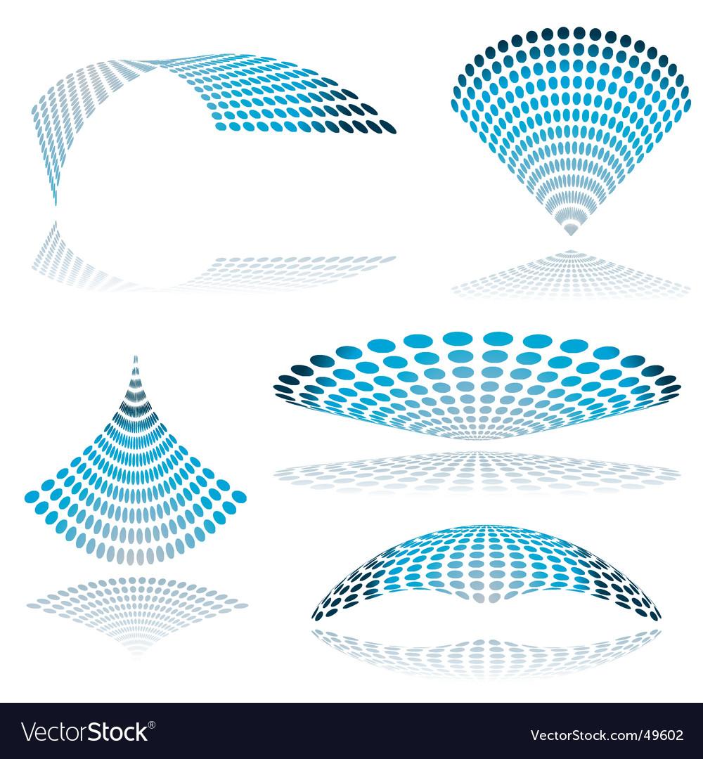 Circle mesh twist vector | Price: 1 Credit (USD $1)