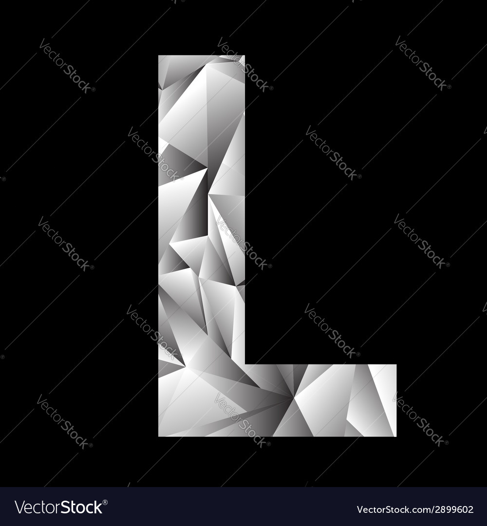 Crystal letter l vector | Price: 1 Credit (USD $1)