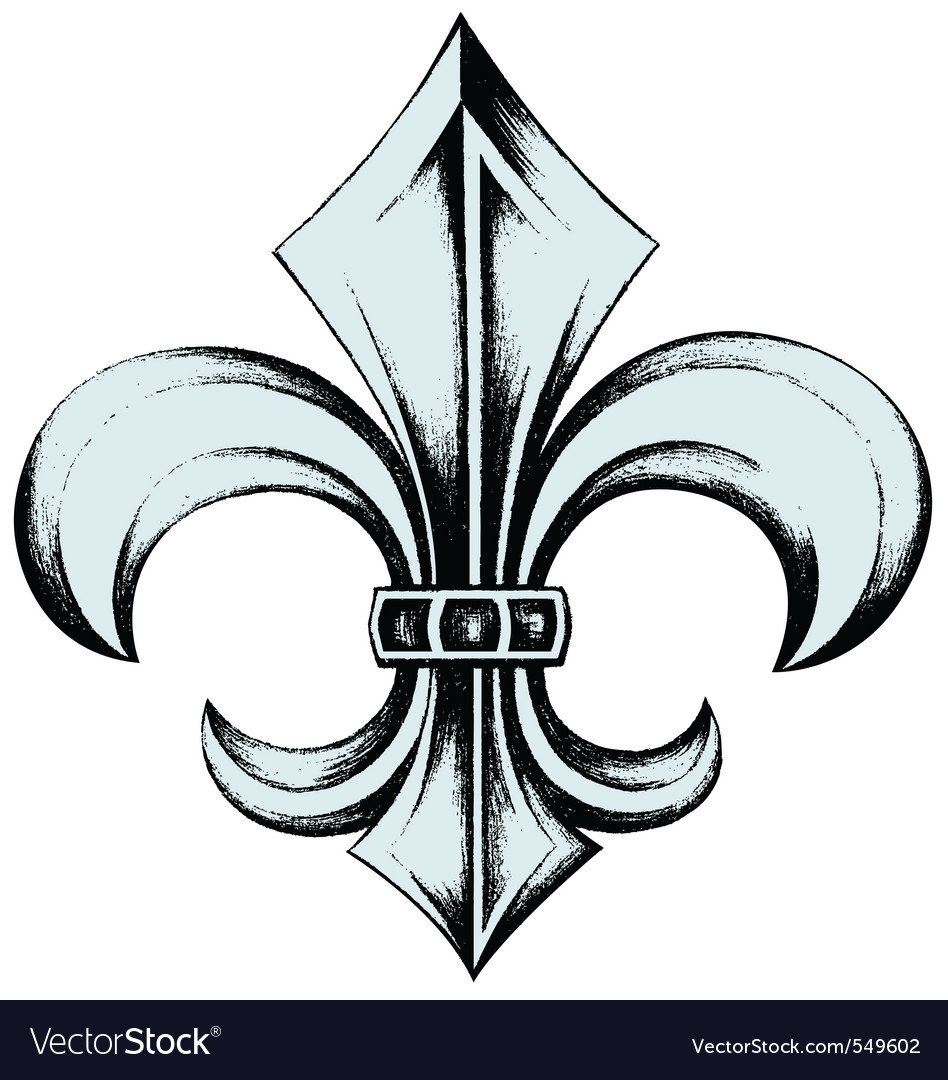 Fleur de lys drawing vector | Price: 1 Credit (USD $1)