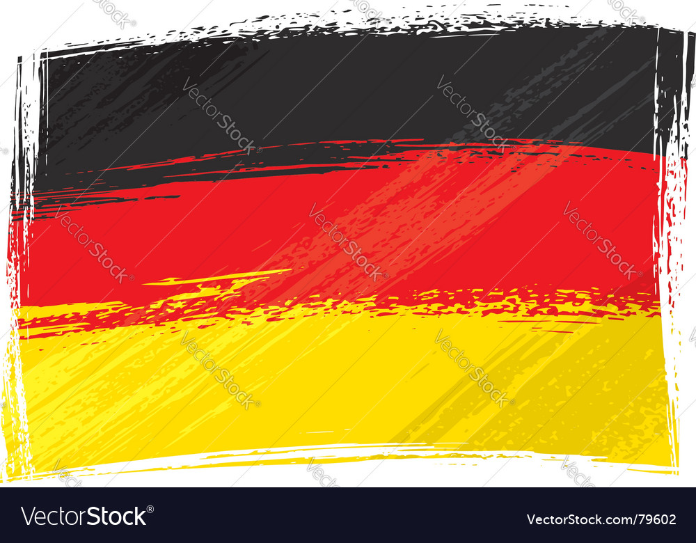 Grunge germany flag vector | Price: 1 Credit (USD $1)