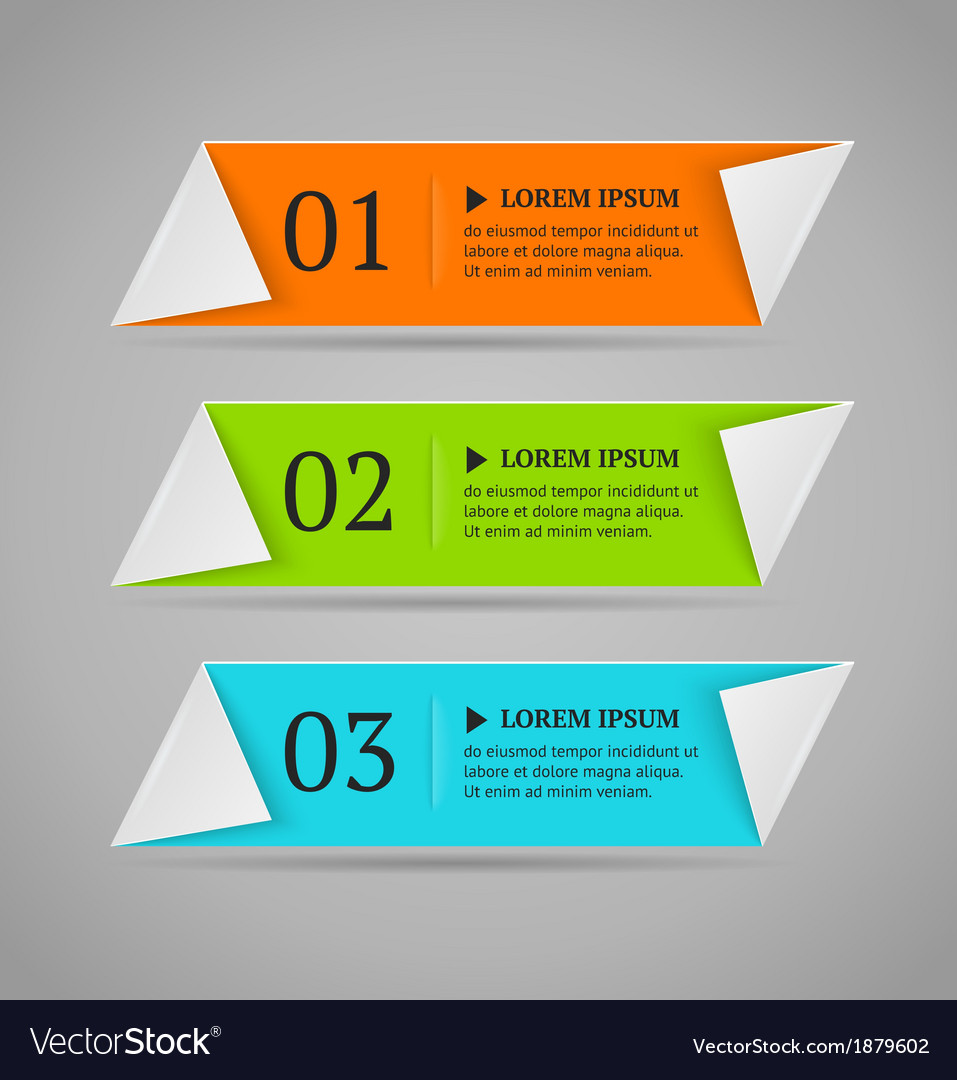 Horizontal colorful options banner template vector | Price: 1 Credit (USD $1)