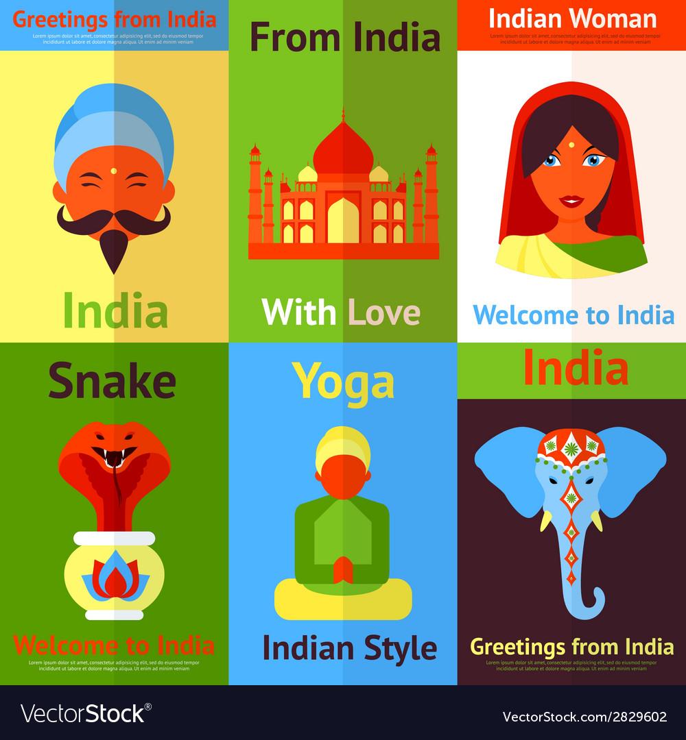 India mini poster vector | Price: 1 Credit (USD $1)