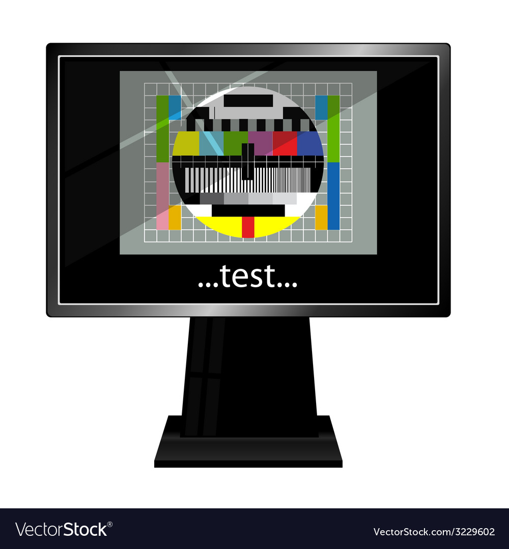 Lcd tv with test vector | Price: 1 Credit (USD $1)