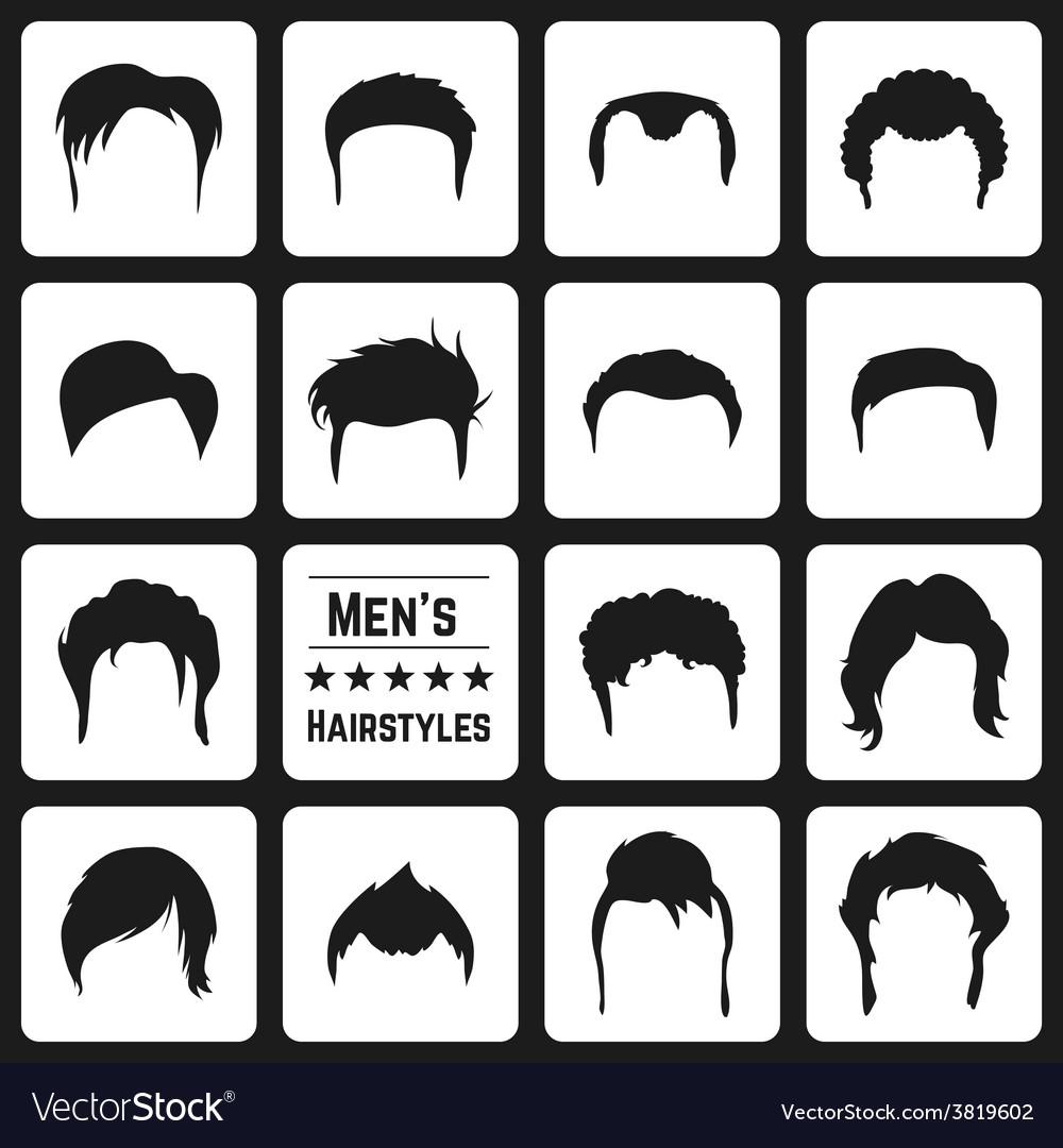 Mens haircuts vector | Price: 1 Credit (USD $1)