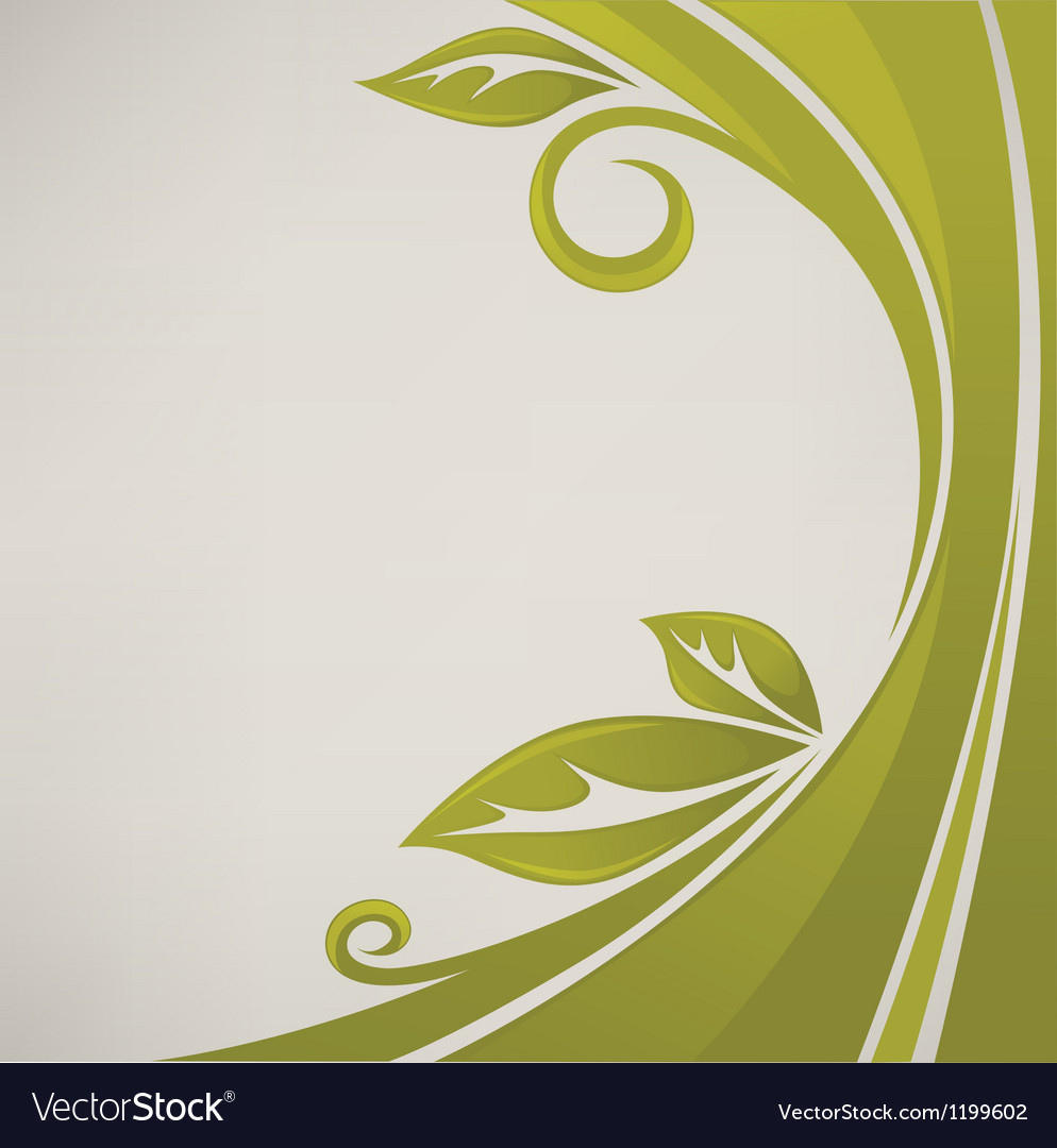 Nature banner grass and leaves vector | Price: 1 Credit (USD $1)