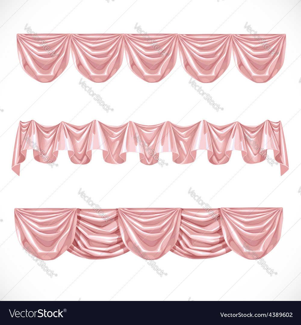 Pink pelmet isolated on a white background vector | Price: 3 Credit (USD $3)