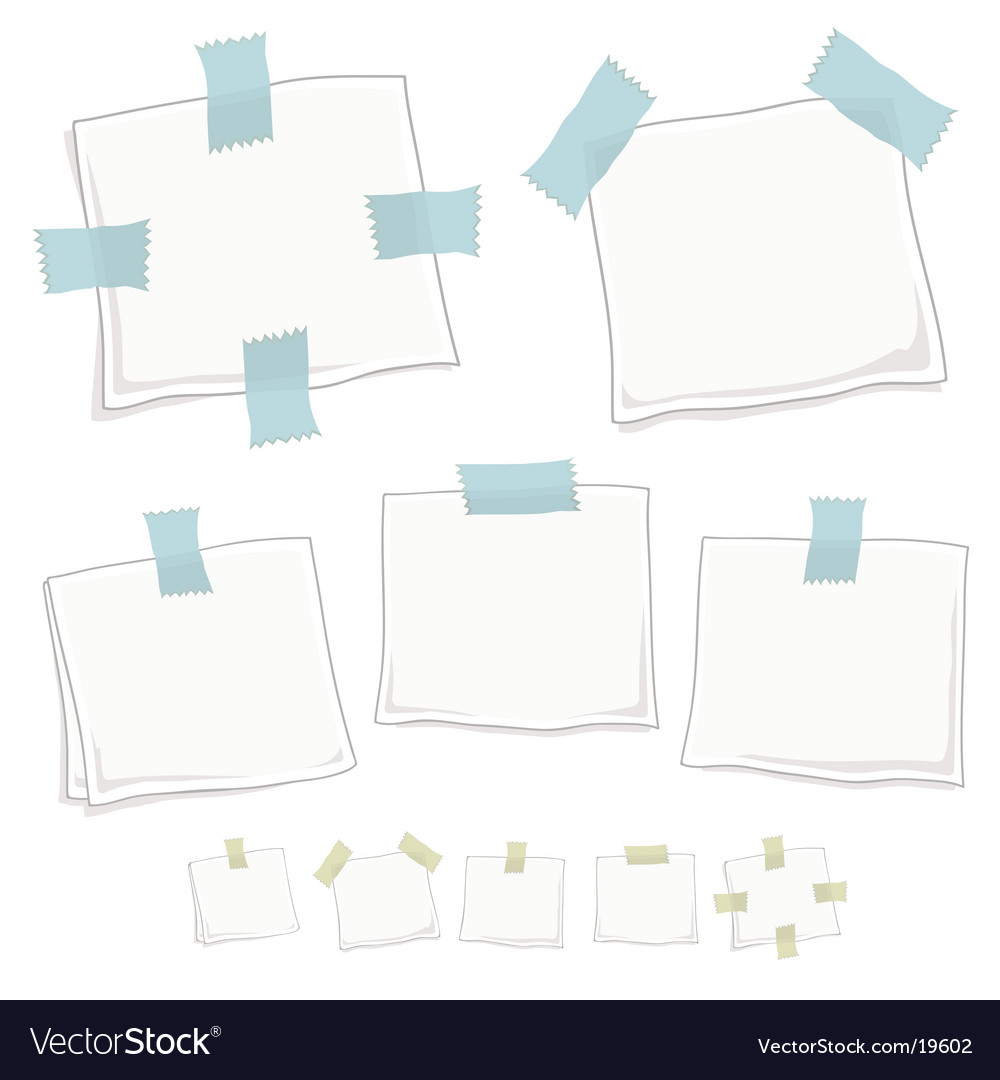 Stylized graphic note posts vector | Price: 1 Credit (USD $1)