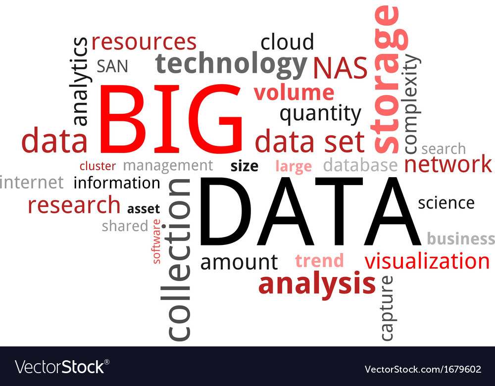 Word cloud big data vector | Price: 1 Credit (USD $1)