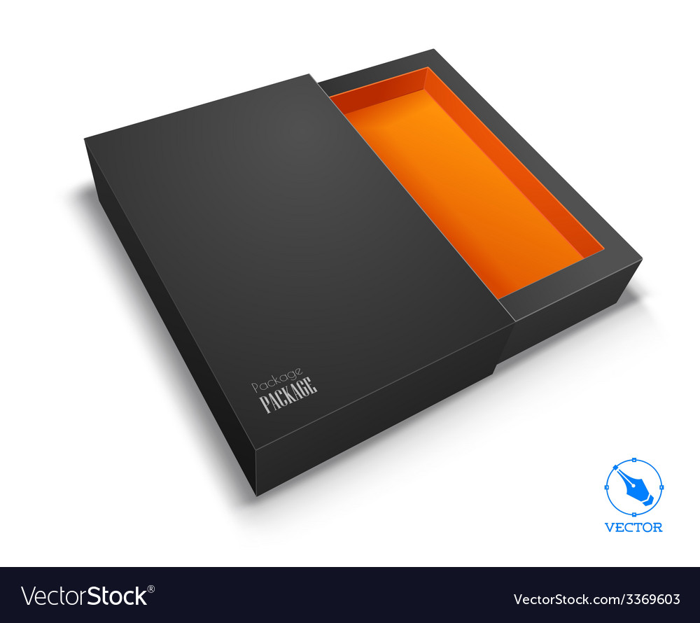 Blank box on white background vector | Price: 1 Credit (USD $1)