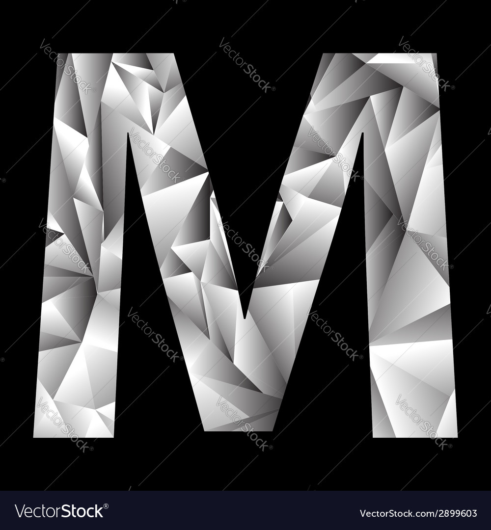 Crystal letter m vector | Price: 1 Credit (USD $1)