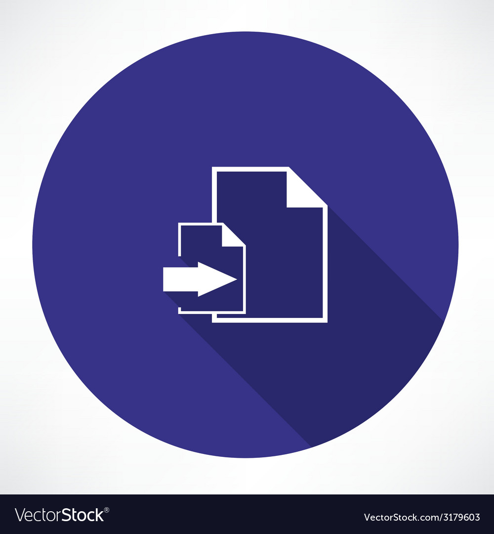 Download document icon vector | Price: 1 Credit (USD $1)