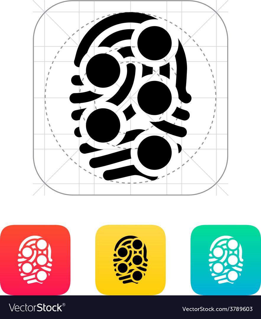 Fingerprint loop type scan icon vector | Price: 1 Credit (USD $1)