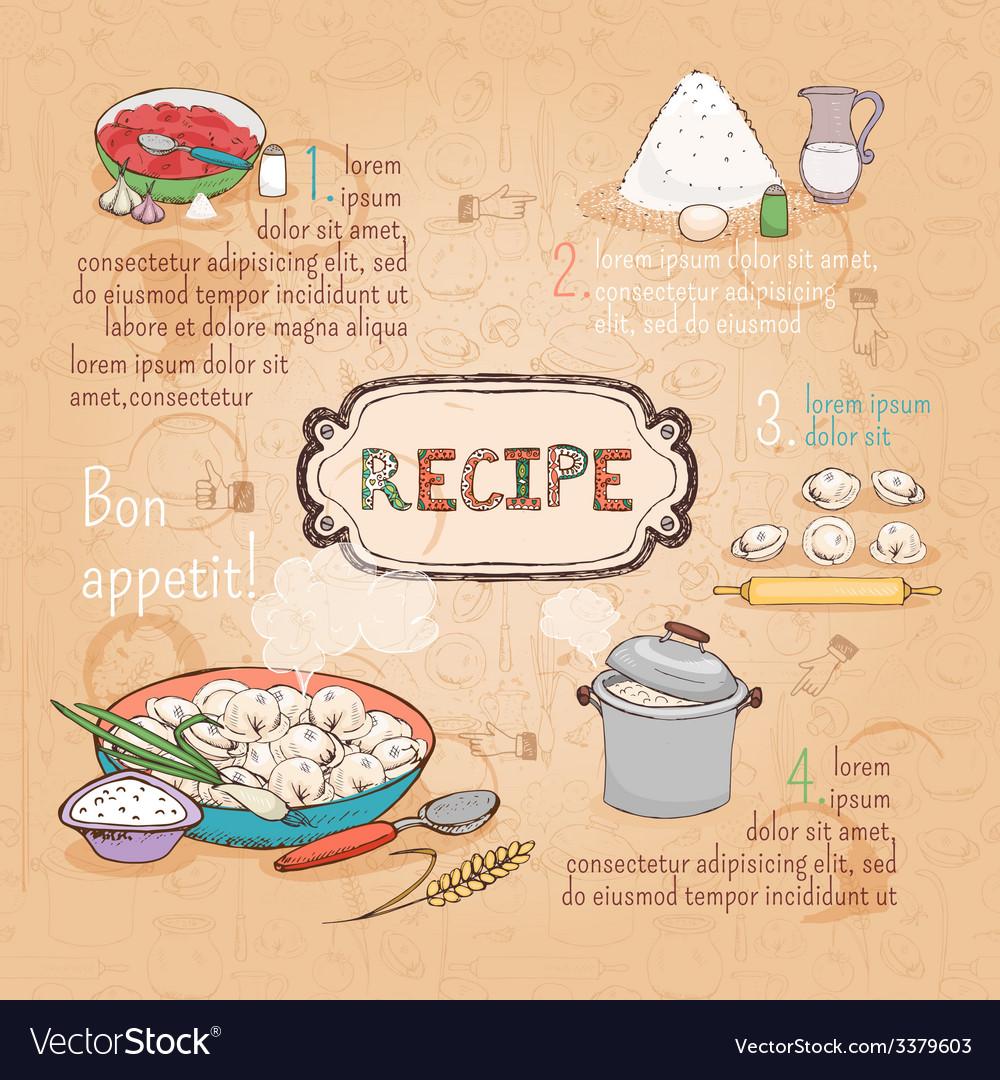 Food ingredients recipe vector | Price: 1 Credit (USD $1)