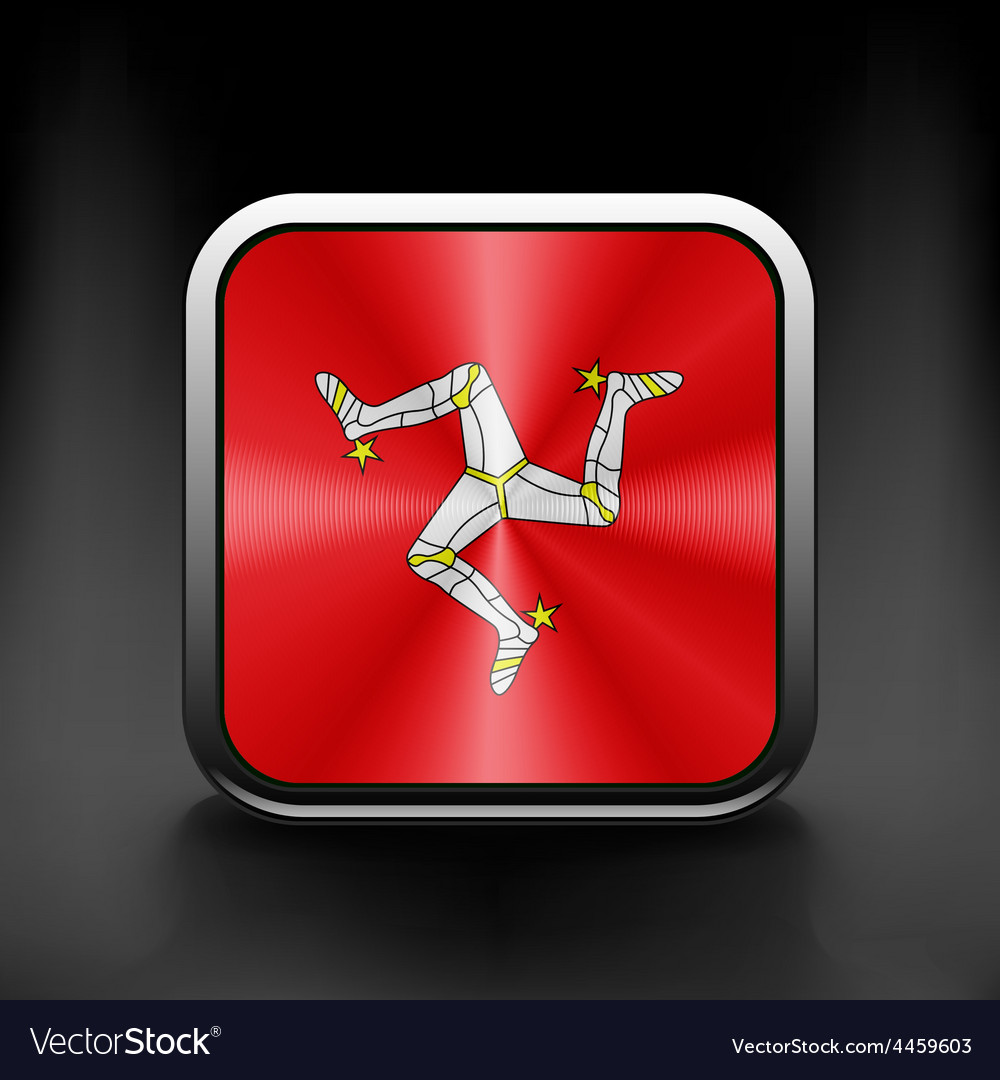Isle of man icon flag national travel icon country vector | Price: 1 Credit (USD $1)