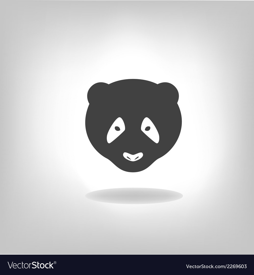 Panda grey label - vector | Price: 1 Credit (USD $1)