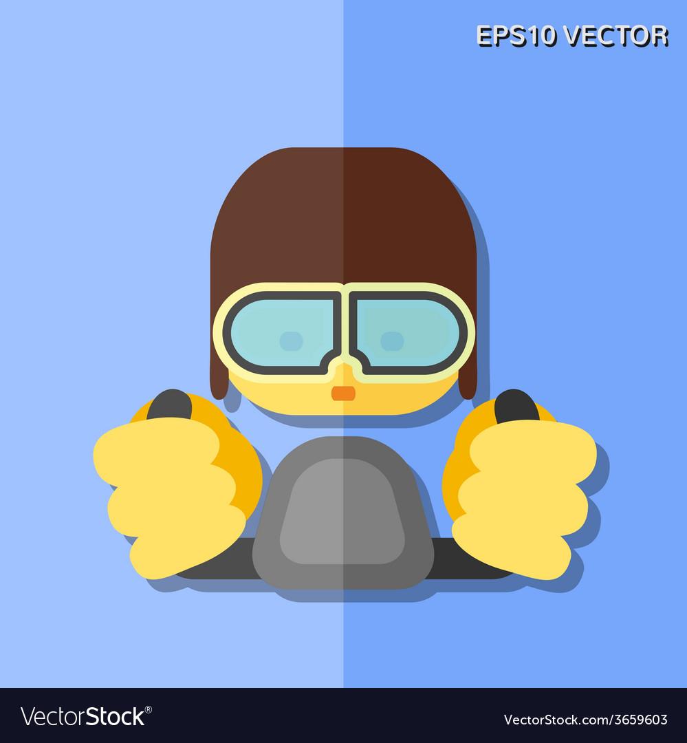 Pilot flat icon vector | Price: 1 Credit (USD $1)