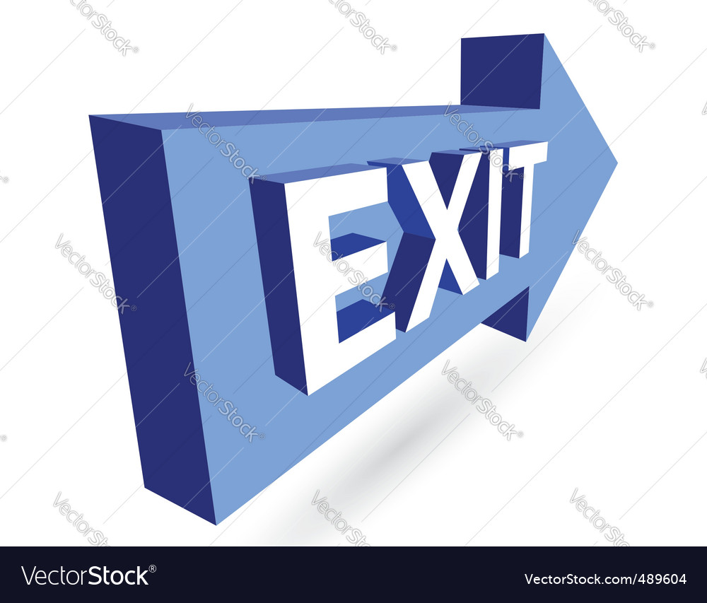 3d exit and arrow vector | Price: 1 Credit (USD $1)
