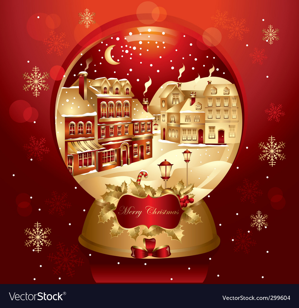 Christmas card design vector | Price: 3 Credit (USD $3)