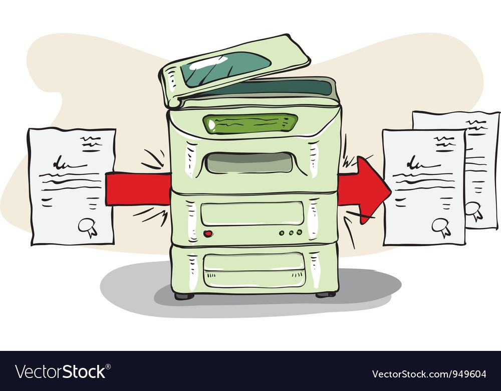 Copy machine vector | Price: 1 Credit (USD $1)