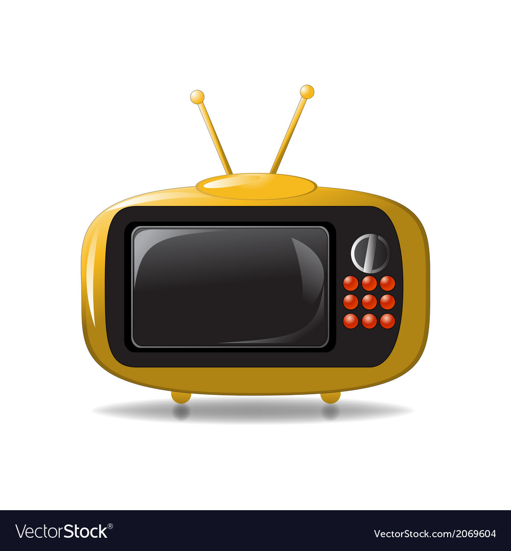 Cute tv animation vector | Price: 1 Credit (USD $1)