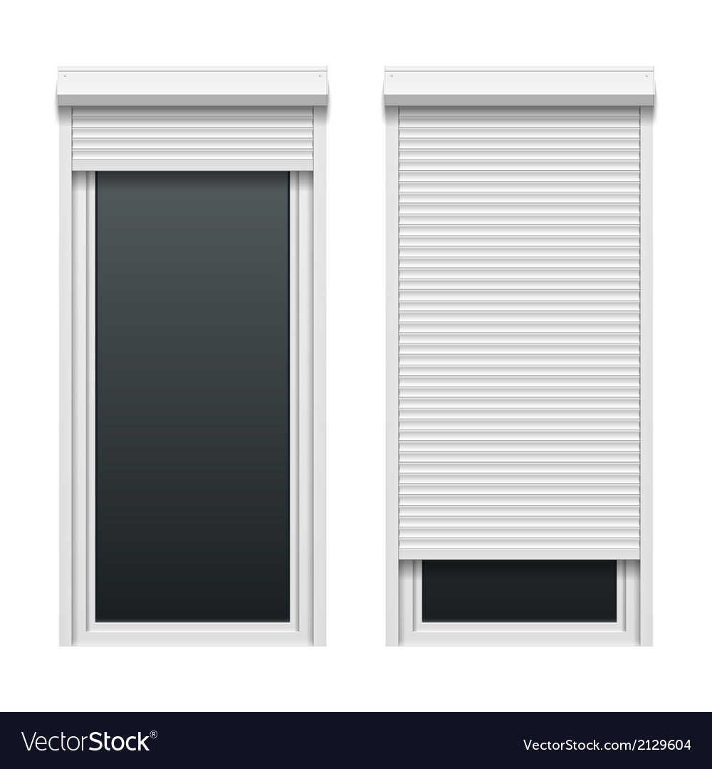 Door with roller shutters vector | Price: 1 Credit (USD $1)