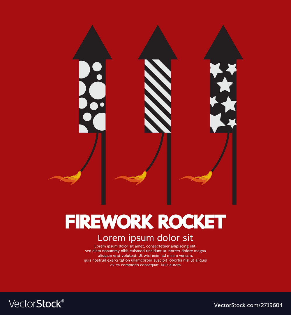 Firework rocket vector | Price: 1 Credit (USD $1)