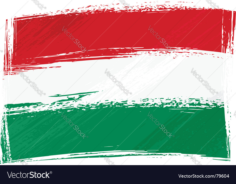 Grunge hungary flag vector | Price: 1 Credit (USD $1)