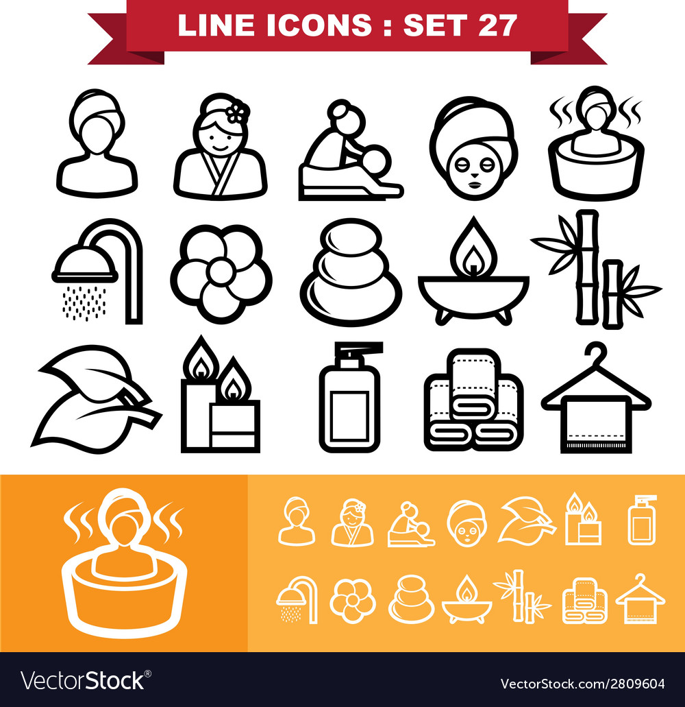 Line icons set 27 vector | Price: 1 Credit (USD $1)