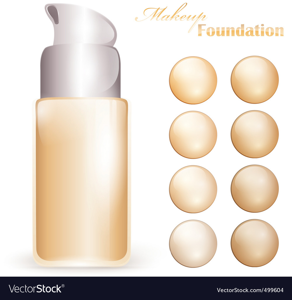 Makeup foundation vector | Price: 1 Credit (USD $1)