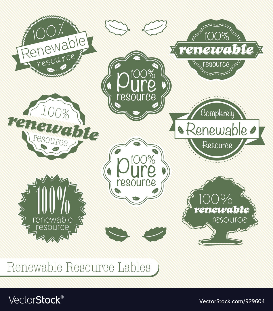 Renewable resource labels vector | Price: 1 Credit (USD $1)