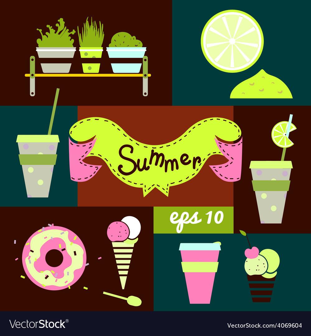 Set summer vector | Price: 1 Credit (USD $1)