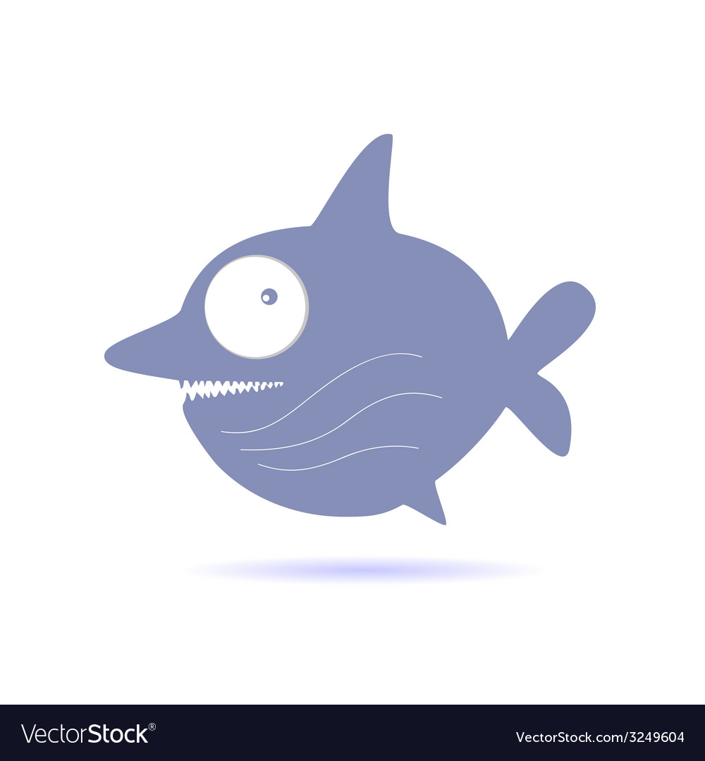 Sweet and funny shark vector | Price: 1 Credit (USD $1)