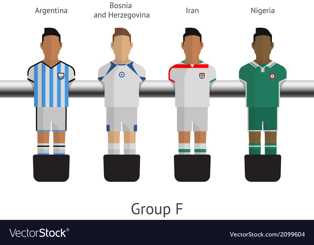 Table football soccer players group f vector   Price: 1 Credit (USD $1)